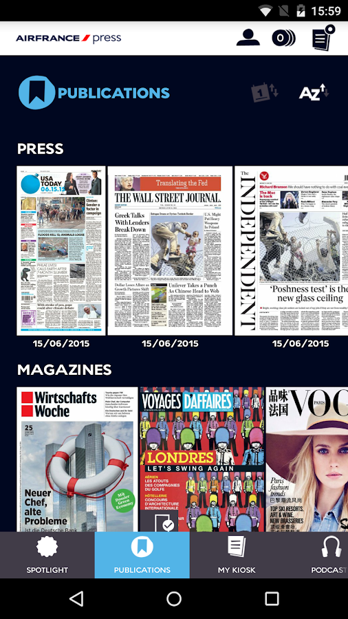 Air France Press - screenshot