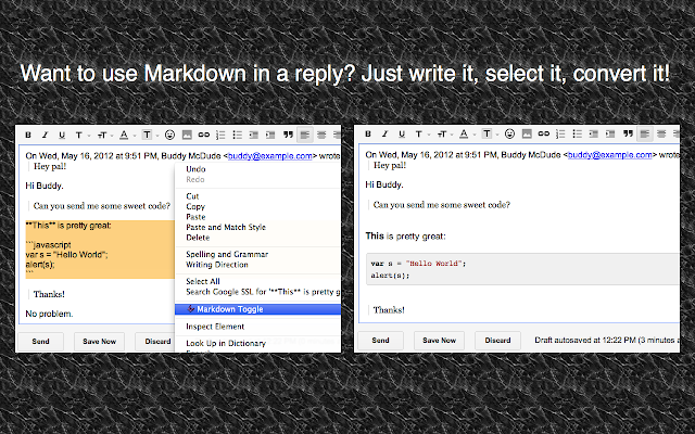 Markdown Here Screenshot
