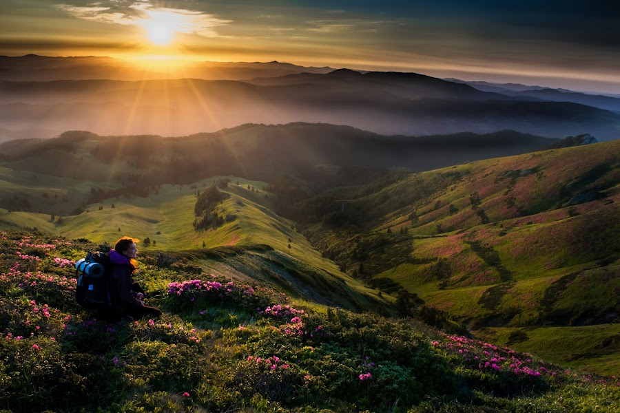 Blessed by sunrise by Georgiana Lefter - Landscapes Mountains & Hills (  )