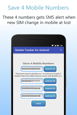 Mobile Tracker for Android- screenshot