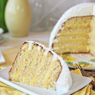 Lemon Coconut Snowball Cake.