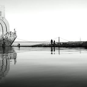 Reflexes... by Vitor Silveira - Buildings & Architecture Public & Historical ( belém; lisbon; portugal; water; reflexes )