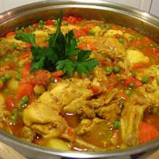 Moroccan Stewed Chicken With Couscous