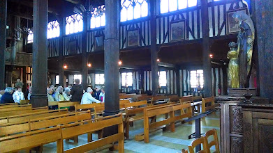 Photo: Wooden church interior