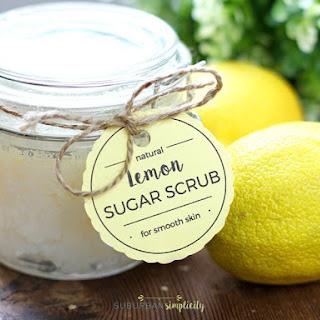 DIY Lemon Sugar Scrub + Free Printable Tags Recipe