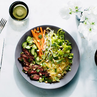 "Vietnamese-Style Spaghetti Squash ""Noodle"" Bowls With Skirt Steak"