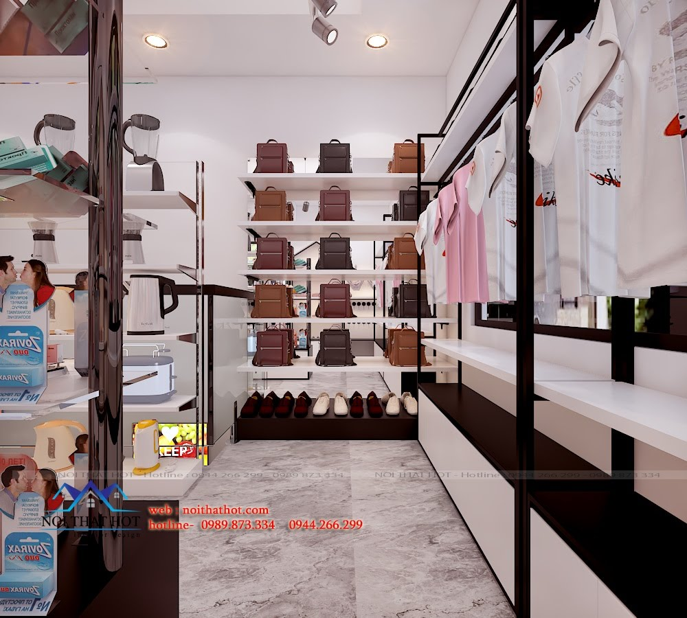 Thiết kế cửa hàng tạp hóa nhập khẩu diện tích lớn