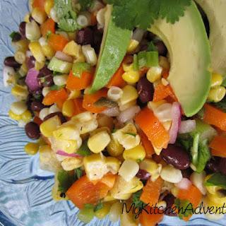 Corn, Black Bean and Avocado Salad