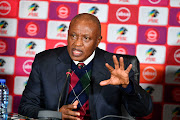 Premier Soccer League chairman Irvin Khoza during a press conference at the PSL offices in Johannesburg on June 26, 2019.