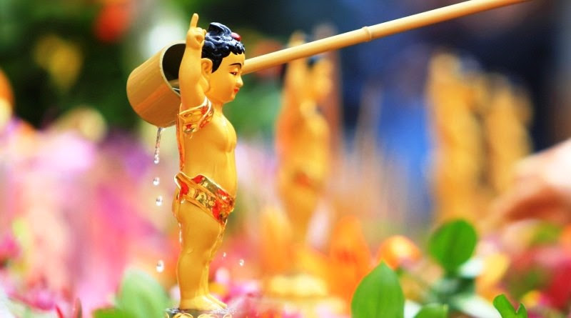 """Câu chuyện về """"tắm Phật"""" trong mùa Phật Đản"""