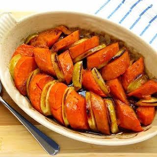 Maple Sweet Potato and Apple Gratin.