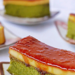 {Recipe} Creme Brulee Green Tea Chiffon Cake