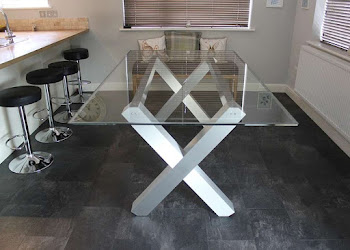 Glass & Aluminum table
