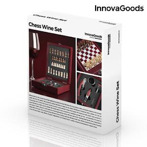 Set elegant de accesorii pentru vin si sah, 37 de piese
