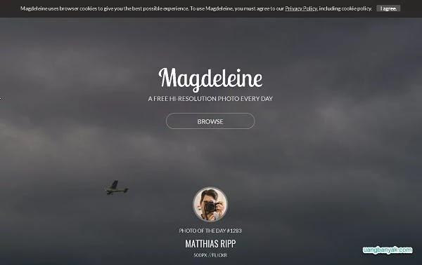 penyedia gambar gratis magdeleine untuk keperluan blogging