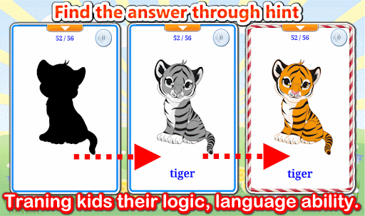 Aplikacje Cute Animals Flashcards V2 PRO dla Androida screenshot