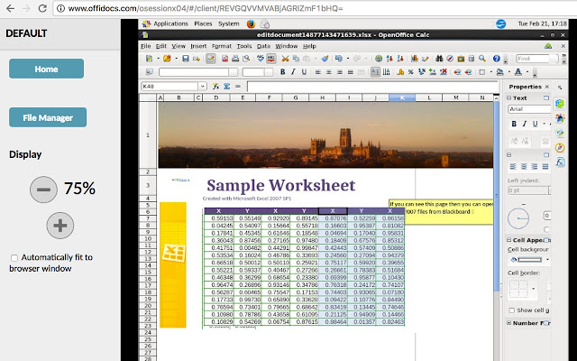 Openoffice Calc Online For Xls Spreadsheets