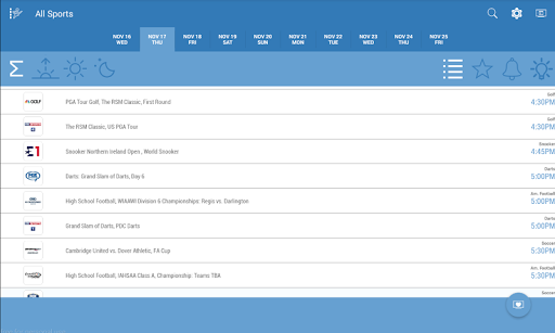 Live Sports TV Listings Guide 2.83 Screenshots 6