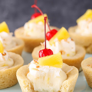 Pina Colada Cookie Cups