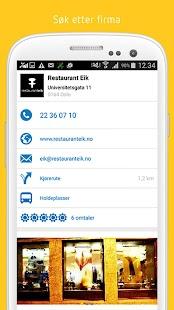 GuleSider - Søk lokalt - screenshot thumbnail