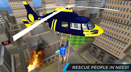 Real City Police Helicopter Games: Rescue Missions 4.0 screenshots 14