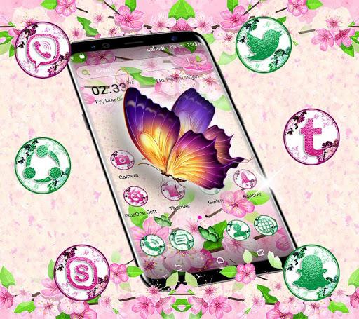 butterfly flower launcher theme screenshot 1