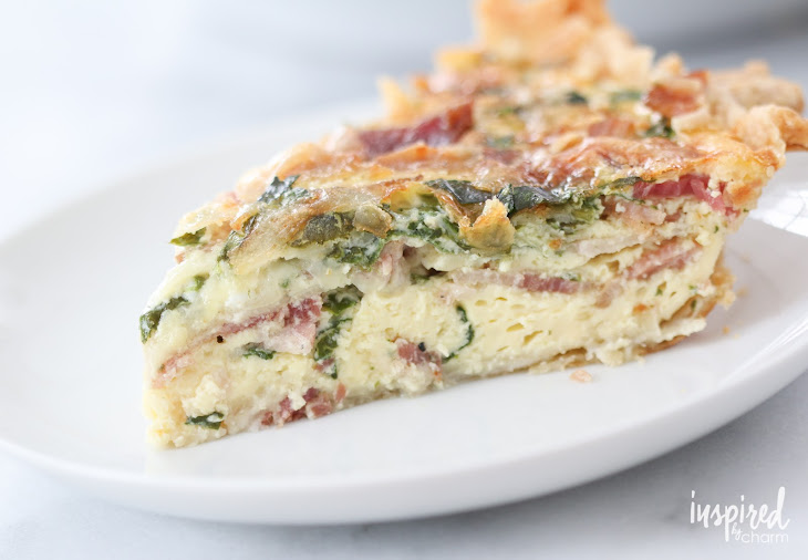 Spinach, Bacon, and Swiss Quiche Recipe | Yummly