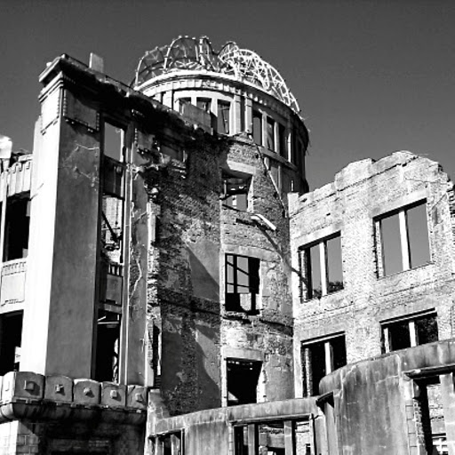Shells: Hiroshima was damaged in 1945 after the US dropped a nuclear bomb, killing about 80,000 people. Picture: GETTY IMAGES