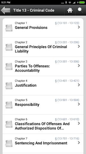 Arizona Statutes, ARS (AZ Law)  screenshots 3