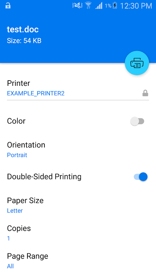 Micro Focus iPrint- screenshot