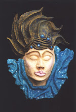 """Photo: Water maiden - 18"""" tall - paper pulp clay"""