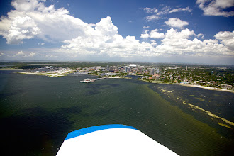 Photo: Flying into St Pete's, where the Dali Museum is