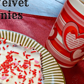 Red Velvet Brownies with Cream Cheese Frosting Recipe - Perfect for Valentines.