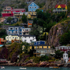 On the Side of a Cliff by Randy Burt - Landscapes Starscapes ( st. john's, travel, cityscape, city )