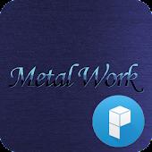 Blue Metal Launcher Theme