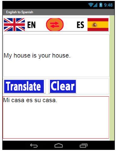 English Spanish Translate 1.0 screenshots 1