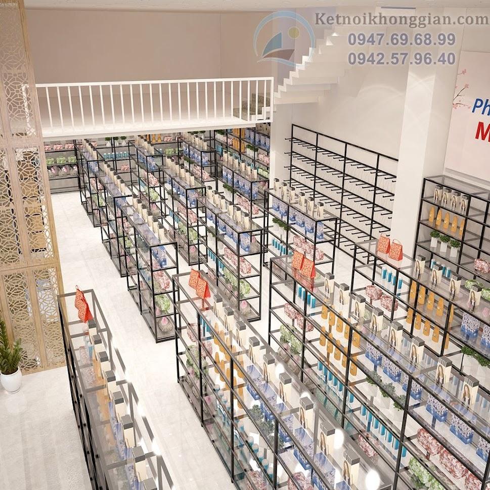 thiết kế siêu thị mini, thiết kế cửa hàng tạp hóa lớn