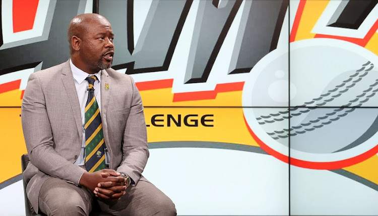 Thabang Moroe (Acting CEO of CSA) during 2017 T20 Ram Slam Sponsorship Announcement at SuperSport Studio, Johannesburg South Africa on 07 November 2017.