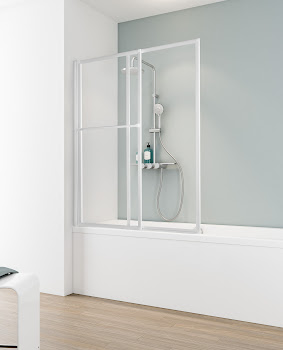Pare-baignoire coulissant, 140 cm, 2 volets