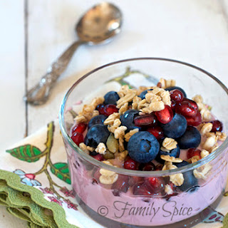 Pomegranate Parfait with Blueberries