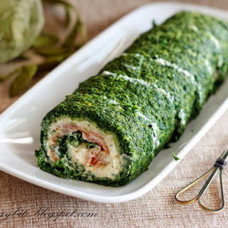 Spinach Roulade with Smoked Salmon' Makes one roll.