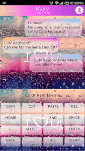 COLOR RAIN Emoji Keyboard Skin screenshot 0