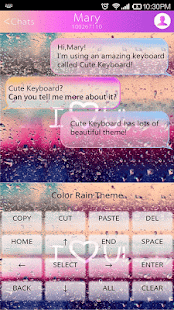COLOR RAIN Emoji Keyboard Skin - náhled