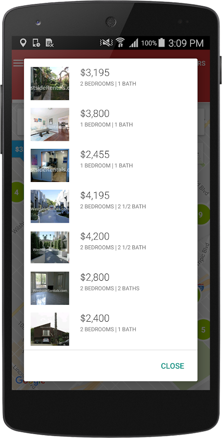 Westside Rentals - Home Search- screenshot