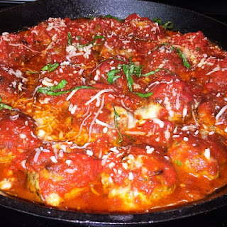 Pizza Stuffed Meatballs
