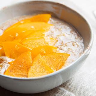 Amaranth Breakfast Bowl with Persimmon, Honey and Tahini