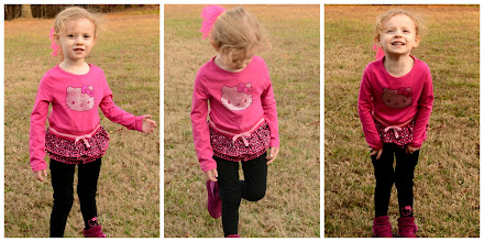 Photo: As soon as our package arrived, my daughter had to do an impromptu fashion shoot in the yard (in spite of the cold).
