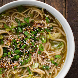 Cabbage Ginger Noodles.