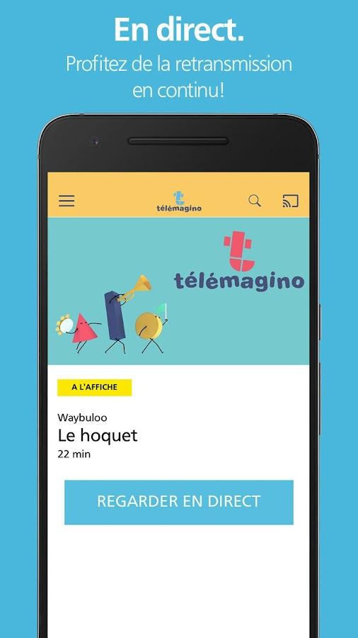 L'application Télémagino- screenshot