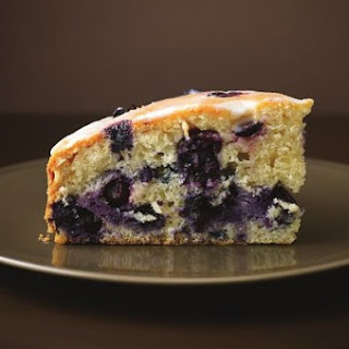 Blueberry And Limoncello Drizzle Cake.